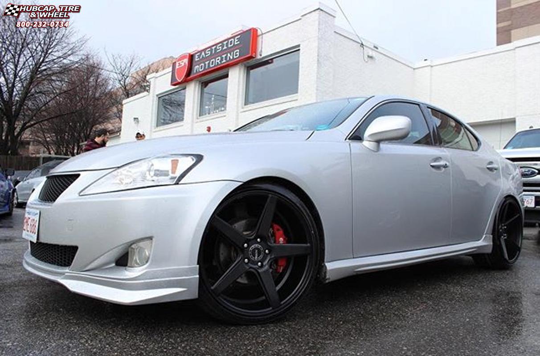 Lexus Is250 Kmc Km685 District Wheels Satin Black