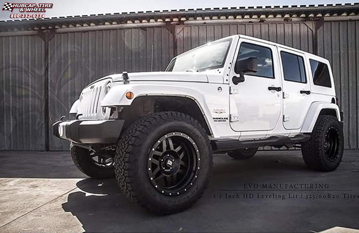 Jeep Wrangler With Black Rims >> Jeep Wrangler XD Series XD128 Machete Wheels Satin Black