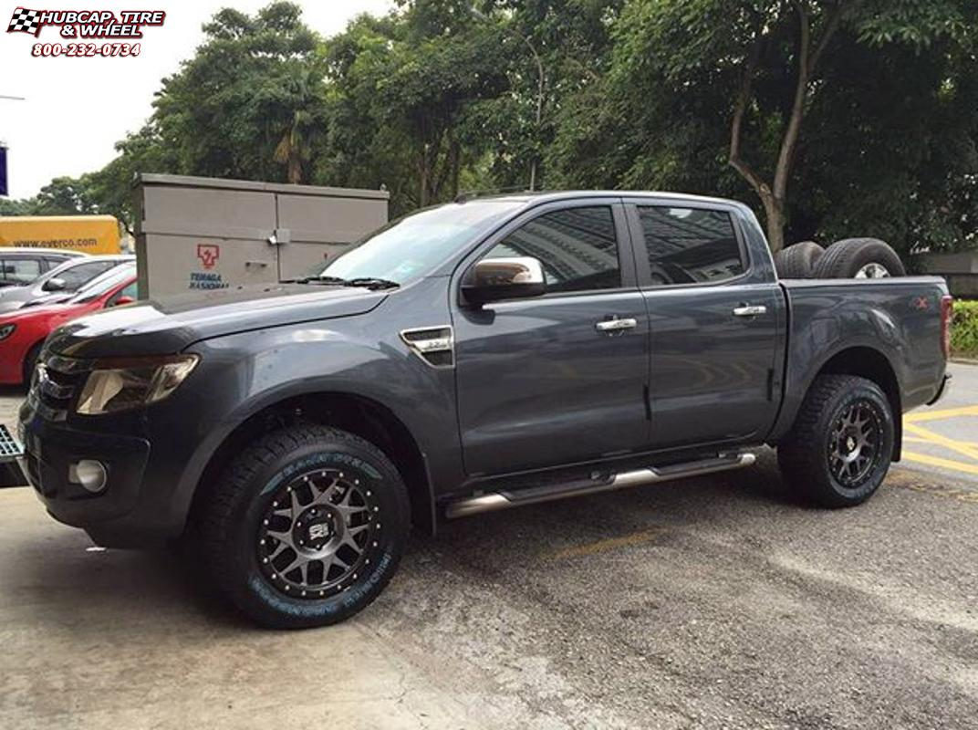 toyota hilux xd series xd127 bully x Matte Gray and Black Ring wheels ...