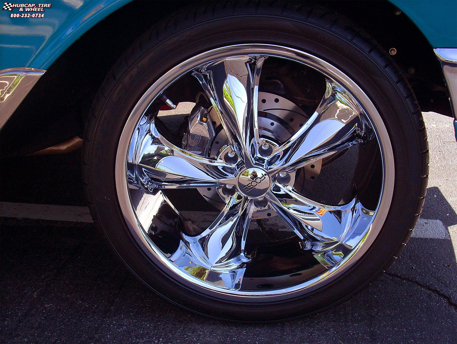 1956 Chevrolet Bel Air Foose Nitrous SE F300 Wheels Chrome