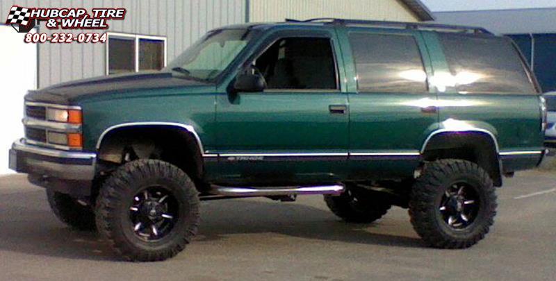 98 Chevy Tahoe Lifted >> Chevrolet Tahoe Fuel Dune D523 Wheels Black & Milled