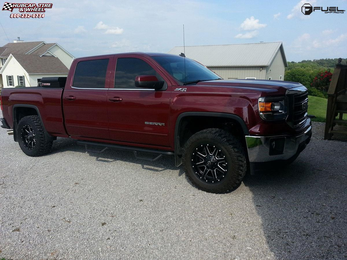 GMC Sierra 1500 Fuel Maverick D538 Wheels Black & Milled