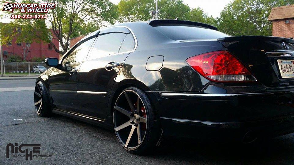 Acura Rl Niche Verona M150 Wheels Black Amp Machined With