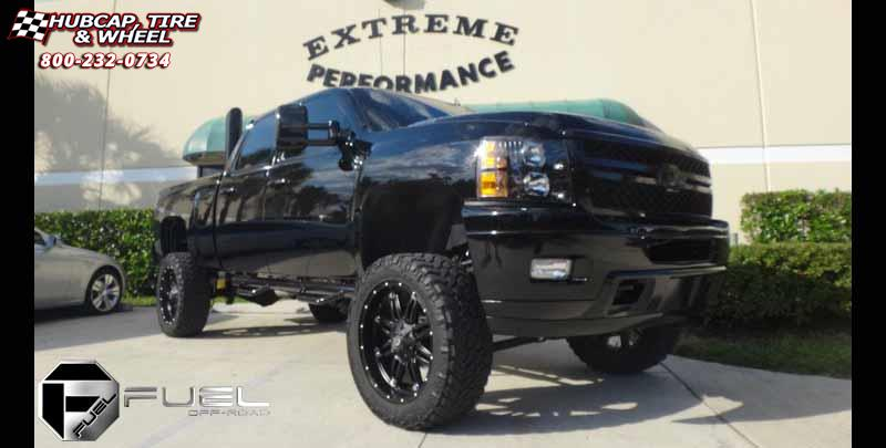 Chevrolet Silverado 2500 HD Fuel Hostage D531 Wheels Matte ...