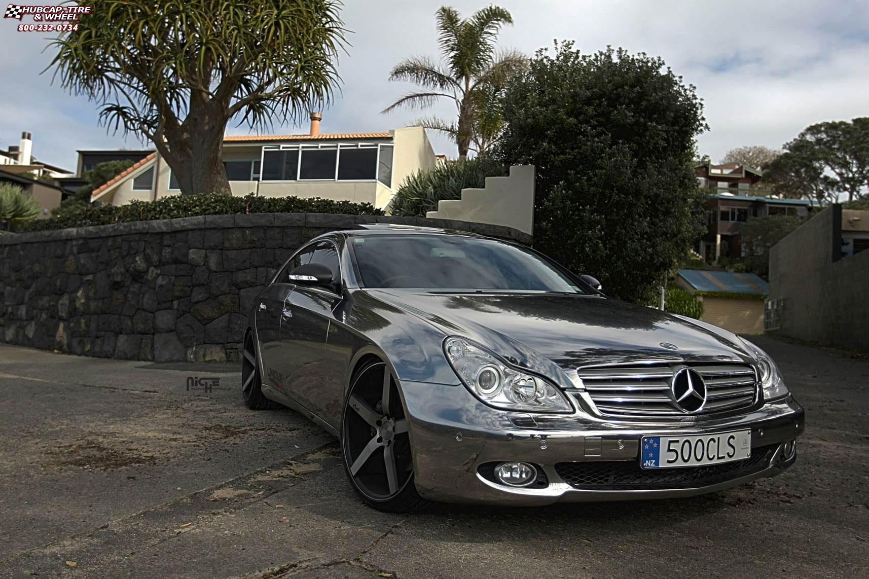 Mercedes benz cls 500 niche milan m134 wheels black for 2009 mercedes benz cls 500