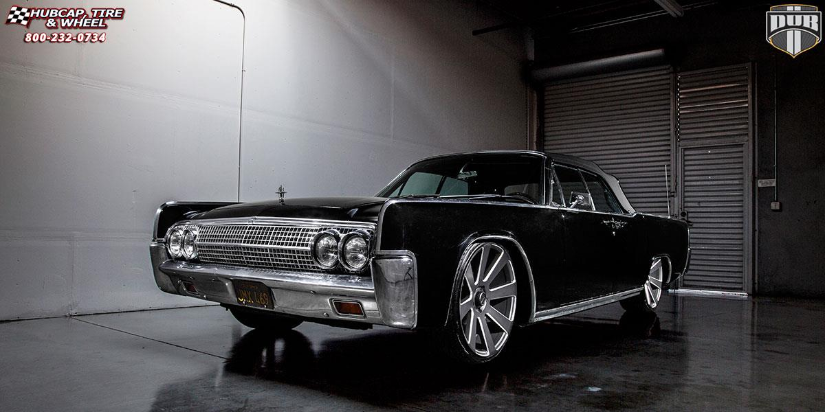 Lincoln Continental Dub 8 Ball S187 Wheels Black Amp Milled