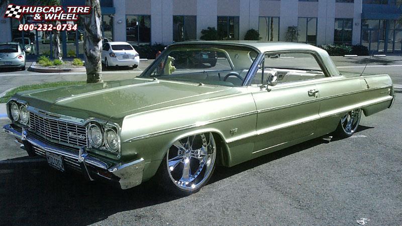 1964 Chevrolet Impala Foose Nitrous Se F300 Wheels Chrome