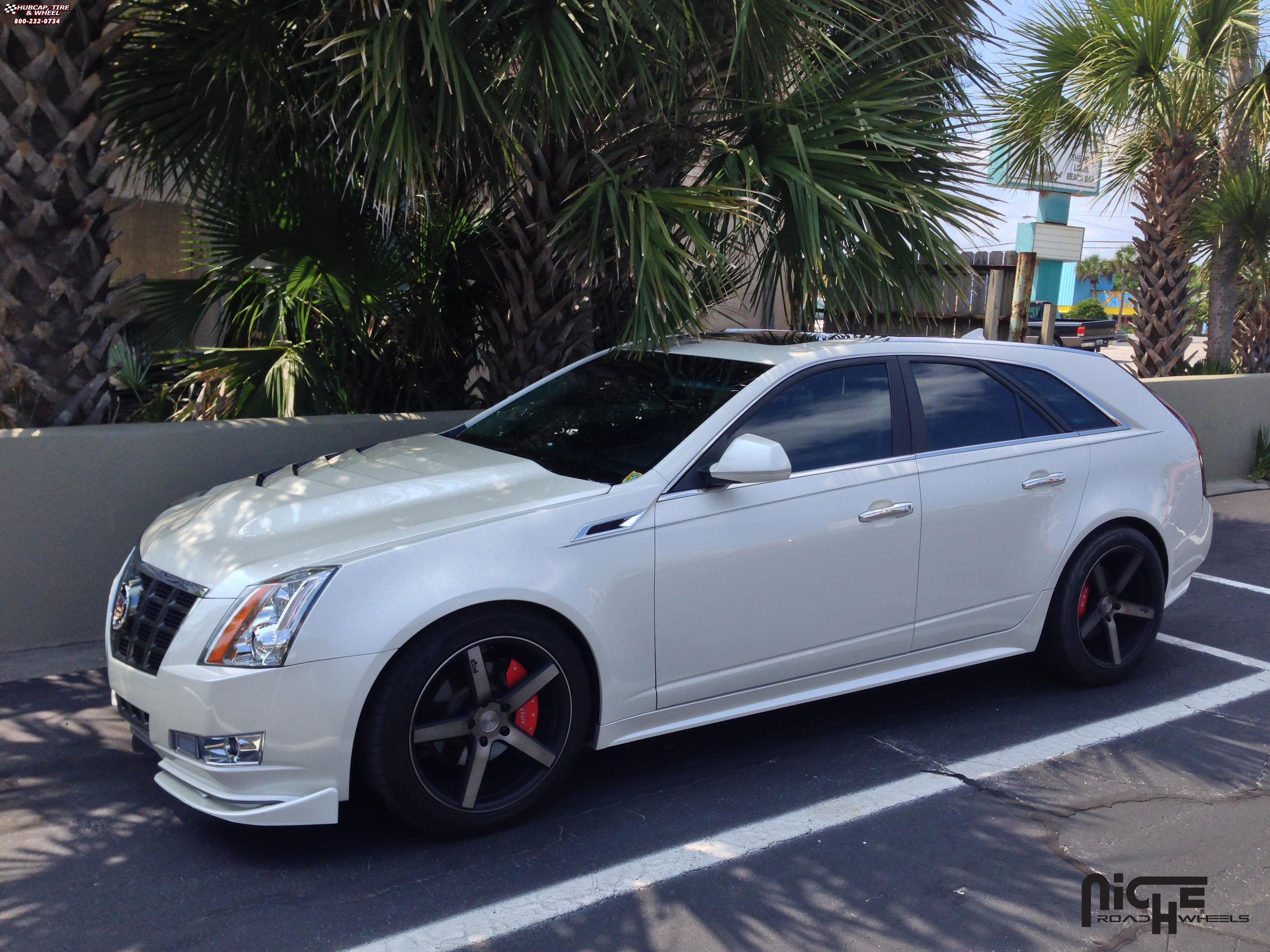 Cadillac cts sport wagon niche milan m134 wheels black machined with dark tint