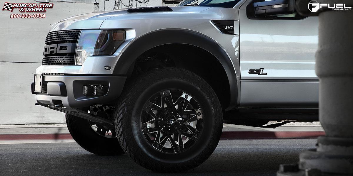 Ford F-150 Fuel Ambush D555 Wheels Gloss Black & Milled