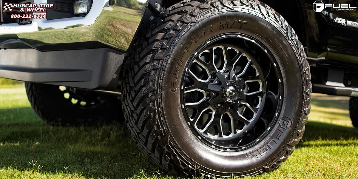 Ford F 250 Super Duty Fuel Titan D588 Wheels Black Amp Milled