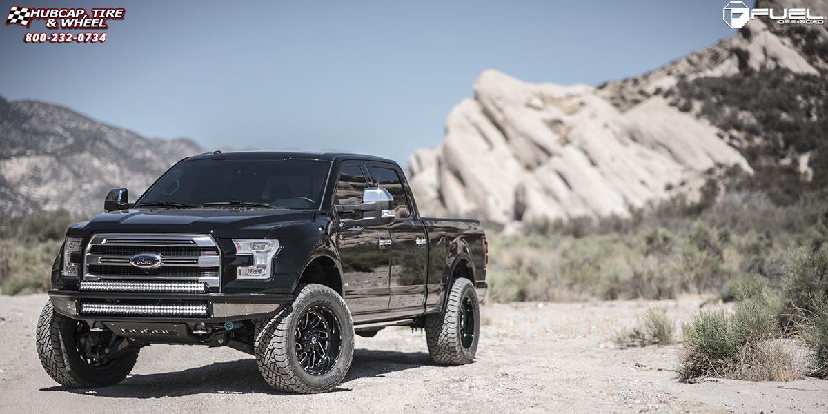 Ford F 150 Fuel Triton D581 Wheels Black Amp Milled