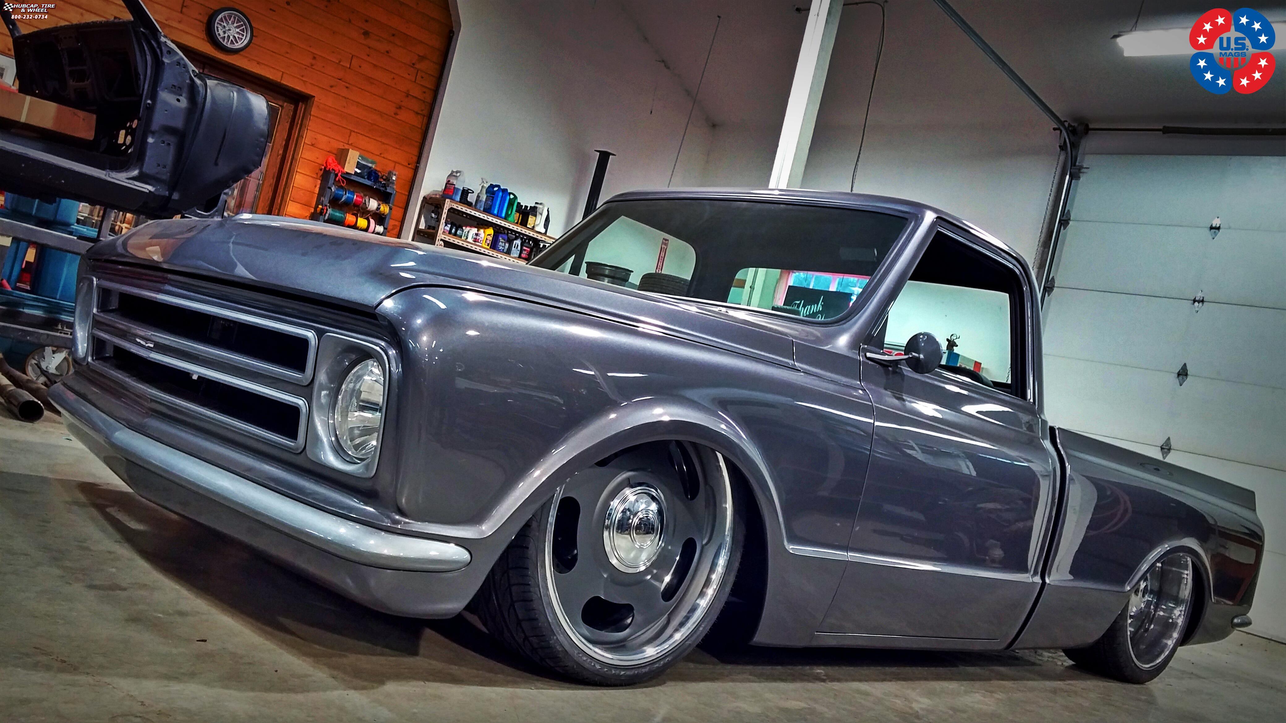 Chevrolet C 10 Us Mags Big Slot U600 Wheels Matte Grey