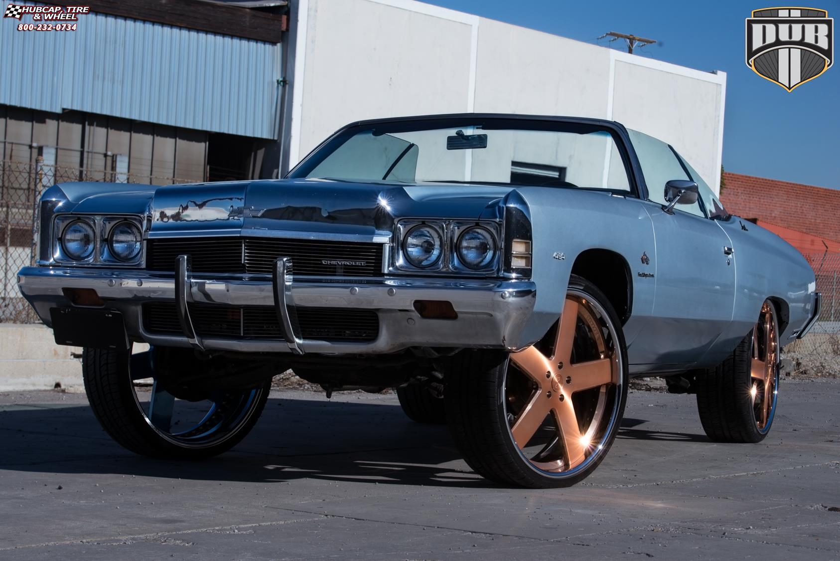 Chevrolet Impala Dub X84 Baller Wheels Brushed W Rose