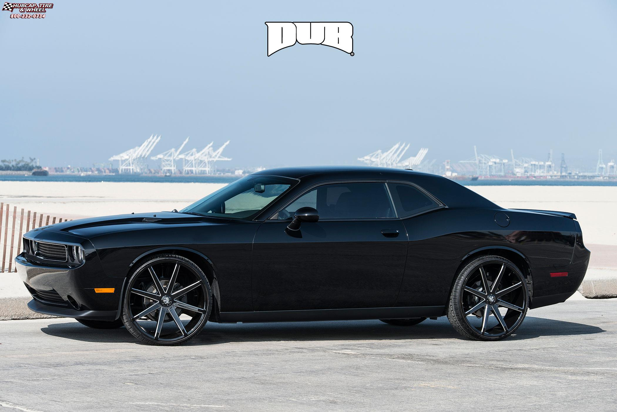 Dodge Challenger 24 Inch Rims >> Dodge Challenger Dub Push - S109 Wheels Gloss Black & Milled