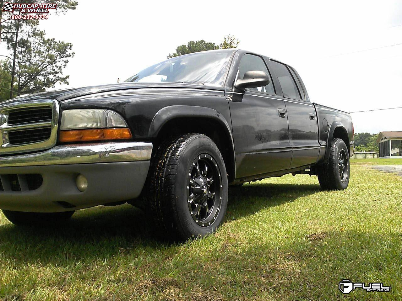 Dodge Dakota Fuel Krank D517 Wheels Matte Black & Milled