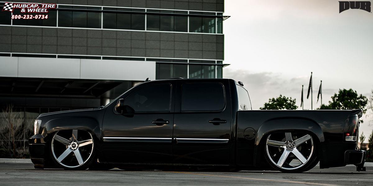 dub baller gmc sierra 1500 s115 chrome wheel rims wheels tire 28x10