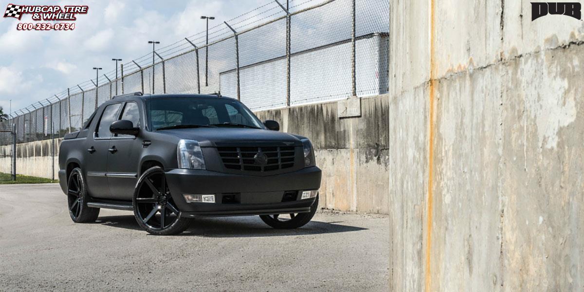 Cadillac Escalade Dub Future S127 Wheels Gloss Black