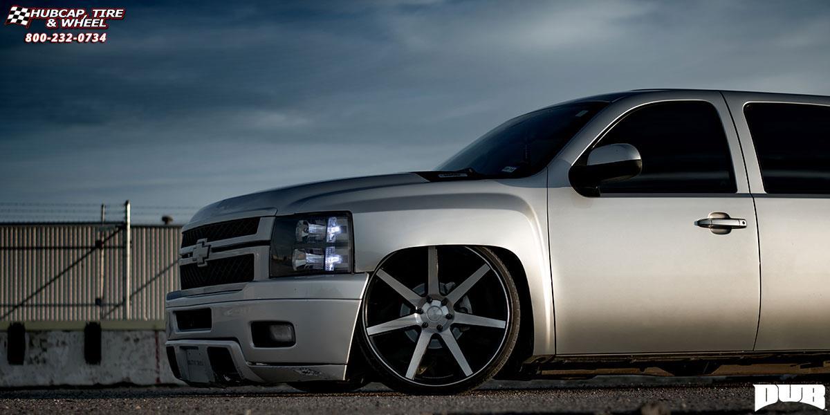 Chevrolet Silverado 1500 Dub Future S127 Wheels Black