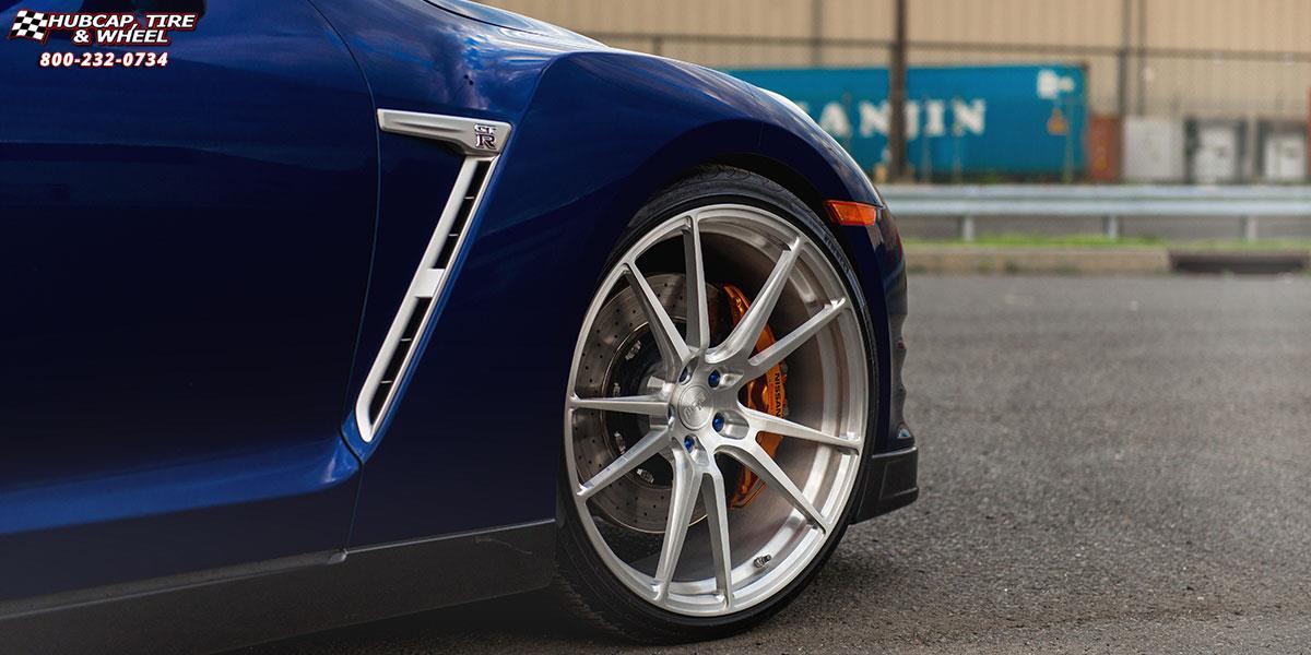 Nissan Gt R Niche Grand Prix H83 Wheels Machined Silver