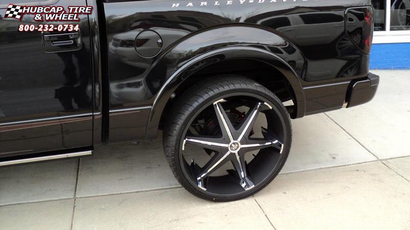 Hubcap Tire And Wheel >> Ford F-150 Dub Big Homie III - S177 Wheels Black w/ Chrome ...