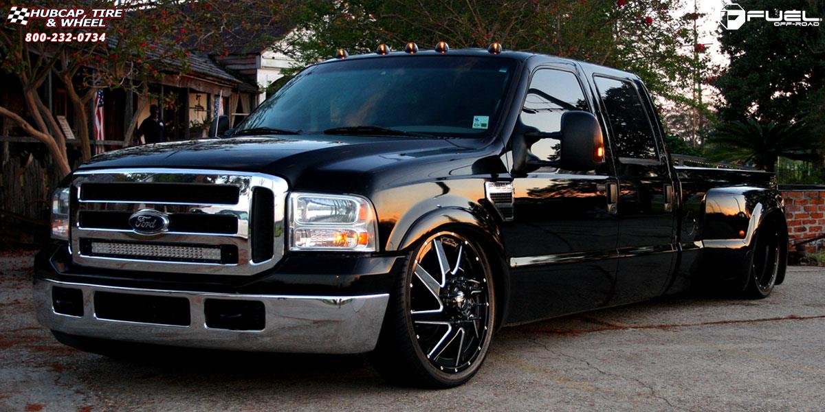 Ford F 350 Dually Fuel Renegade Dually Front D265 Wheels Gloss Black Milled