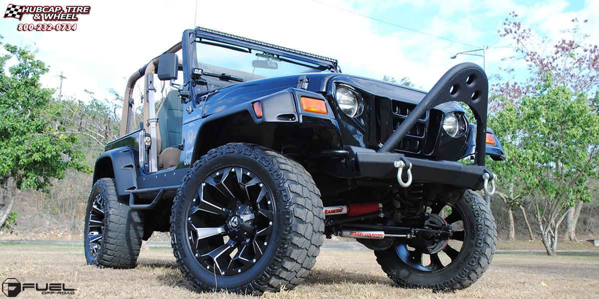 Jeep Wrangler Fuel Assault D546 Wheels Black Amp Milled