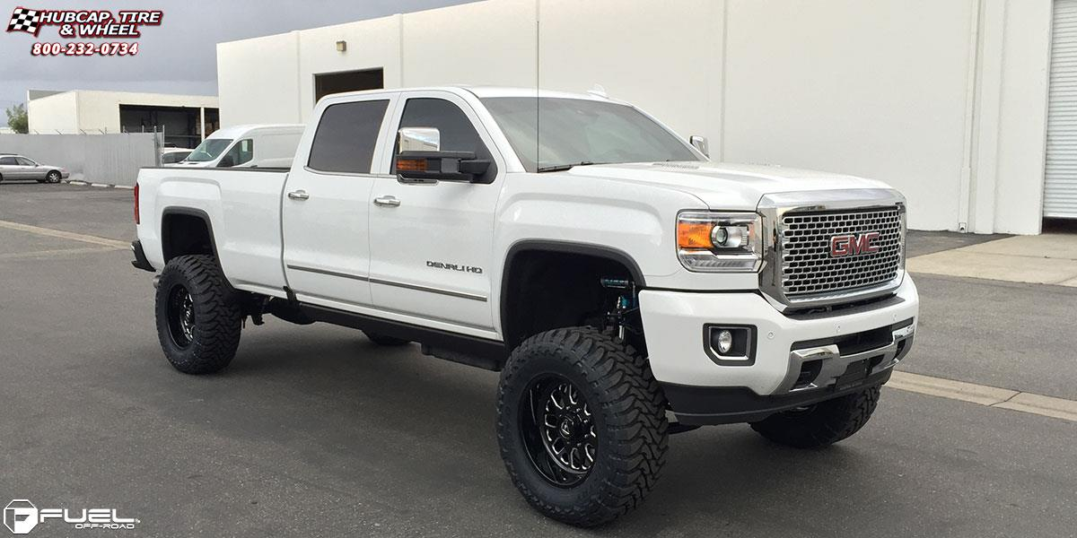 White 2004 Duramax >> GMC Sierra 3500 HD Fuel Forged FF19 Wheels Black & Milled