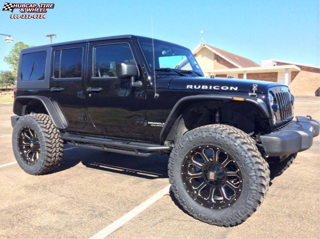 Jeep Wrangler Xd Series Xd806 Bomb Wheels Gloss Black Milled
