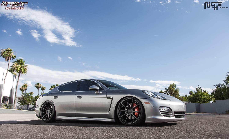 Porsche Panamera Niche Essen M147 Wheels Matte Black