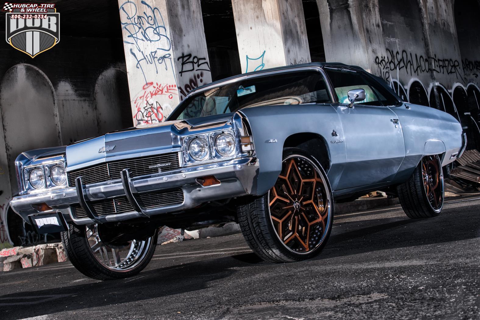 Chevrolet Impala Dub X87 - Chron Wheels Brushed w/ Louis V ...