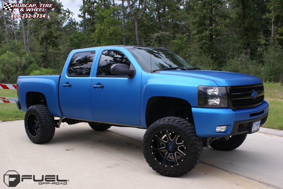 Chevrolet Silverado 1500 Fuel Maverick D262 Wheels Black ...