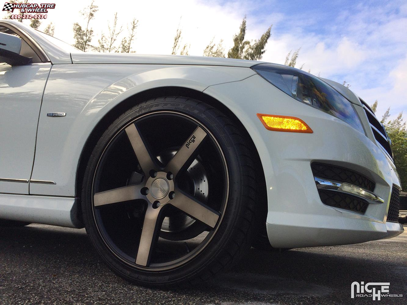 Mercedes benz c350 niche milan m134 wheels black for Mercedes benz wheel and tire protection