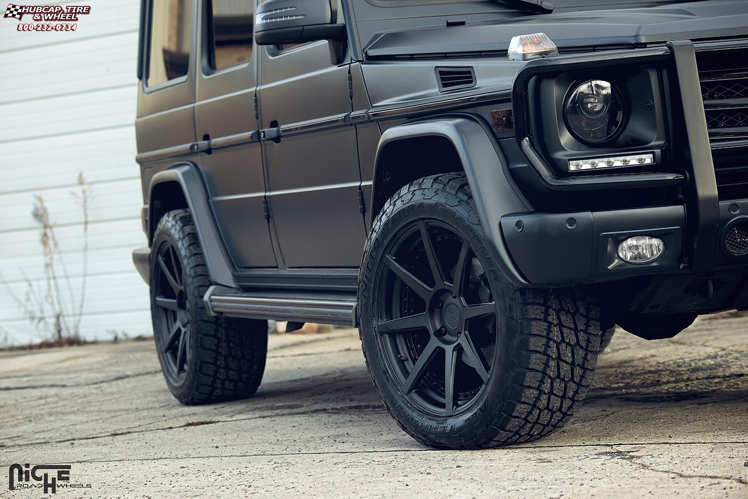 Mercedes benz g63 niche nyx wheels matte black face lip for Mercedes benz wheel and tire protection