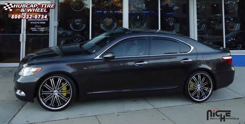 22 Inch Rim And Tire Package >> Lexus LS460 Niche Touring - M878 Wheels Black & Machined ...