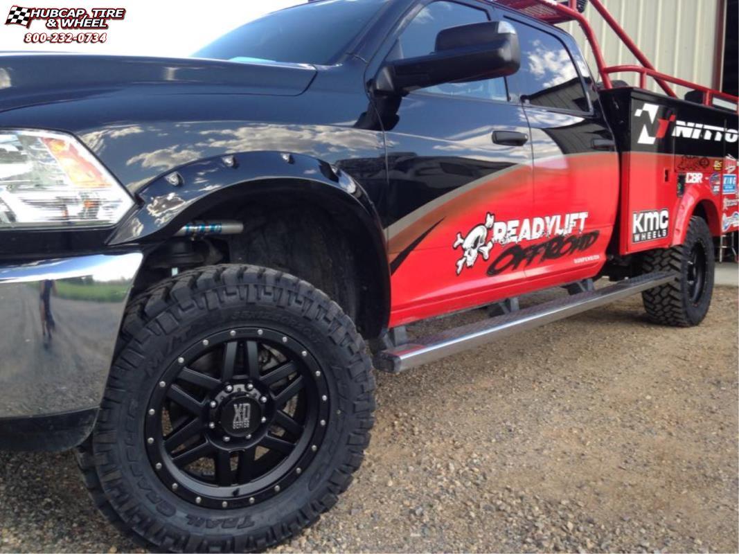 Dodge Ram 3500 Xd Series Xd128 Machete Wheels Satin Black
