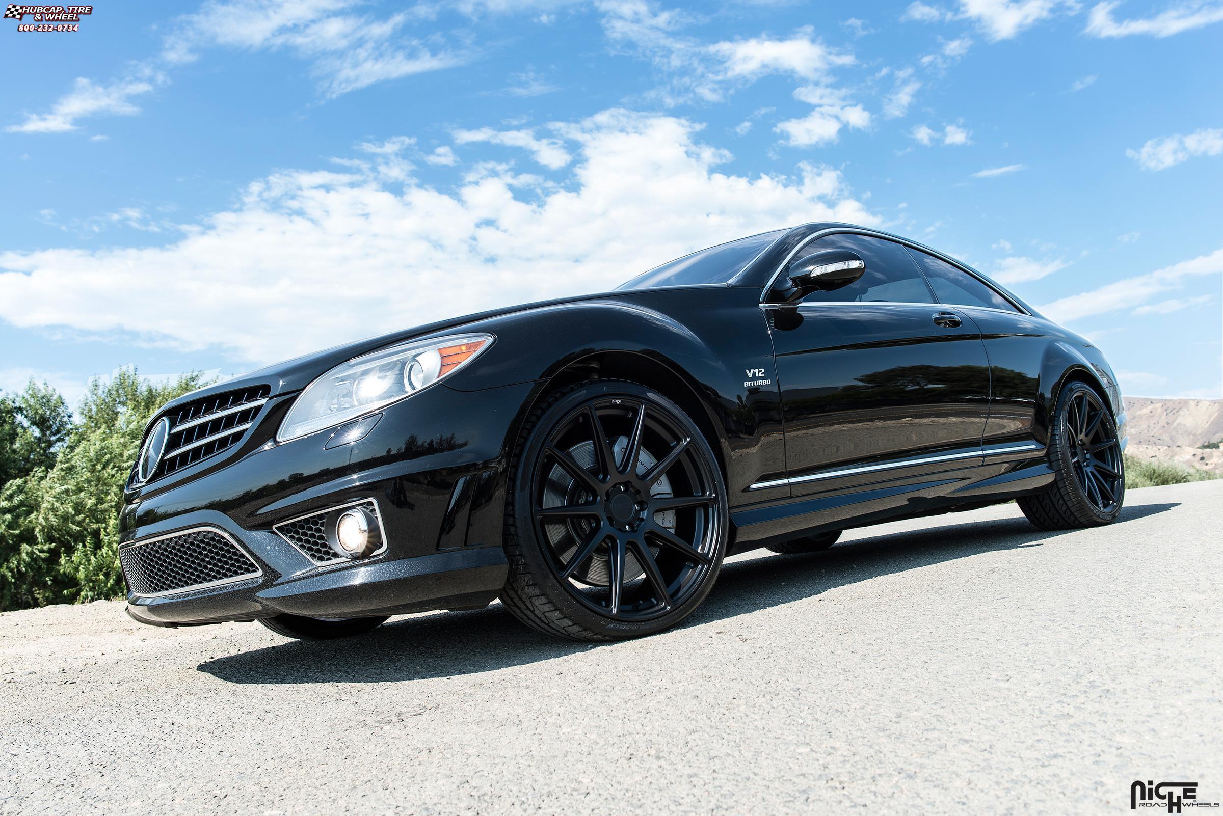 Mercedes benz cl65 niche essen m147 wheels matte black for Mercedes benz cl65