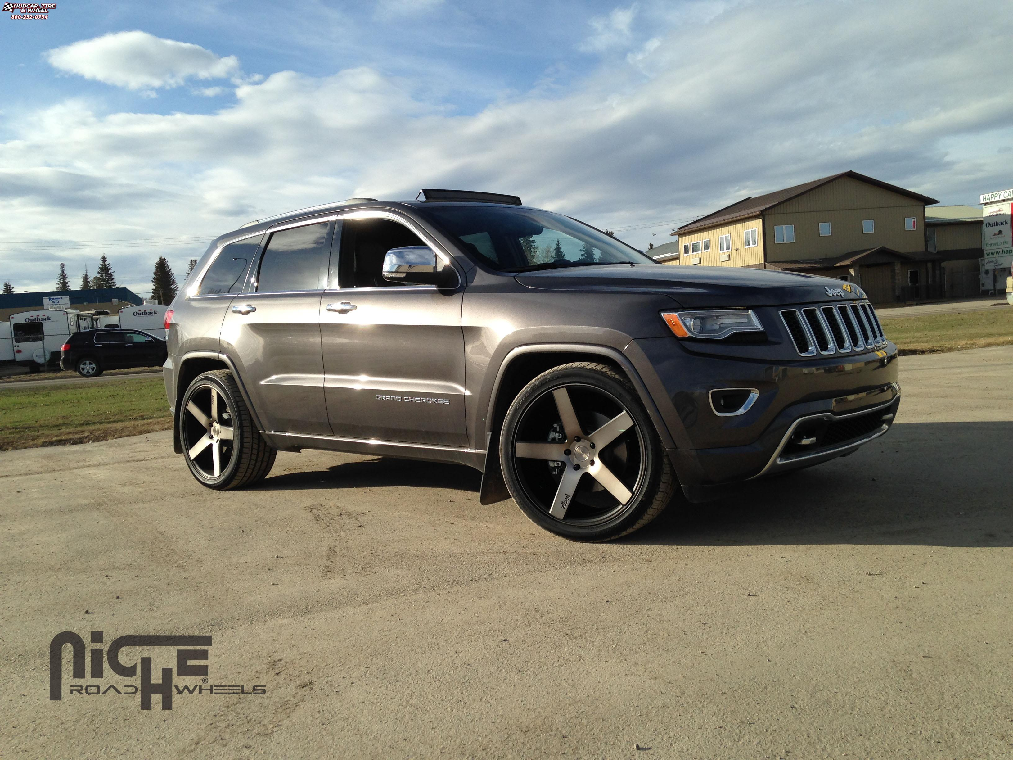 jeep grand cherokee niche milan m134 wheels black machined with. Cars Review. Best American Auto & Cars Review