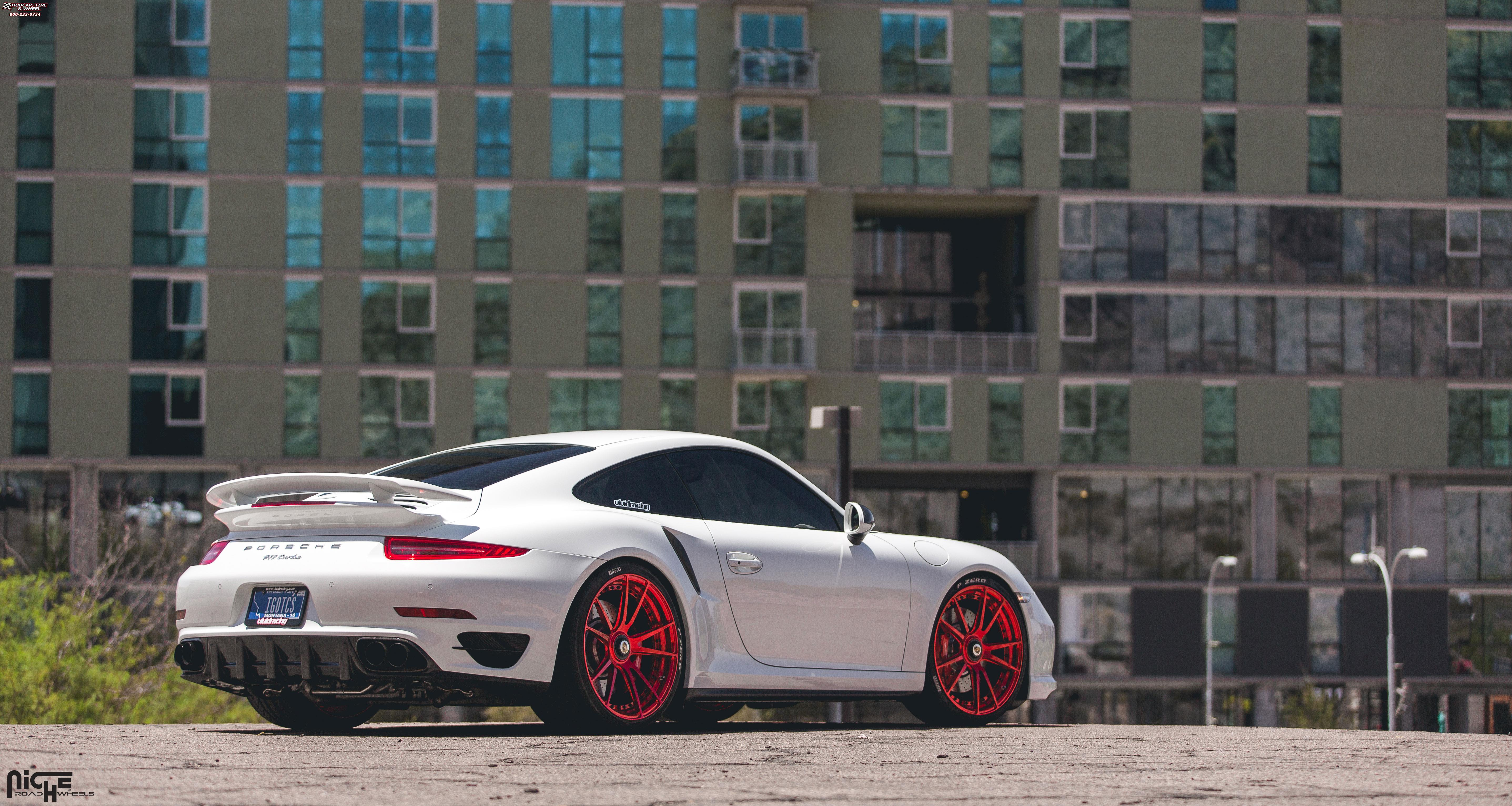 porsche 991 niche grand prix h83 wheels red. Black Bedroom Furniture Sets. Home Design Ideas