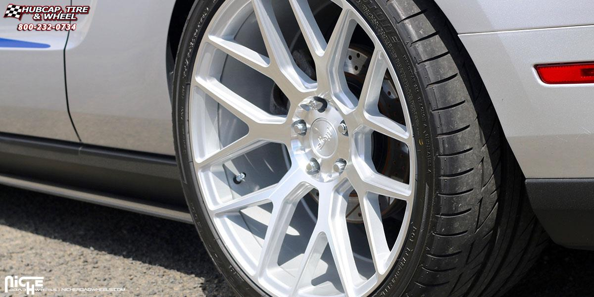 Niche Wheels Mustang >> Ford Mustang Niche Intake - M160 Wheels Silver & Machined