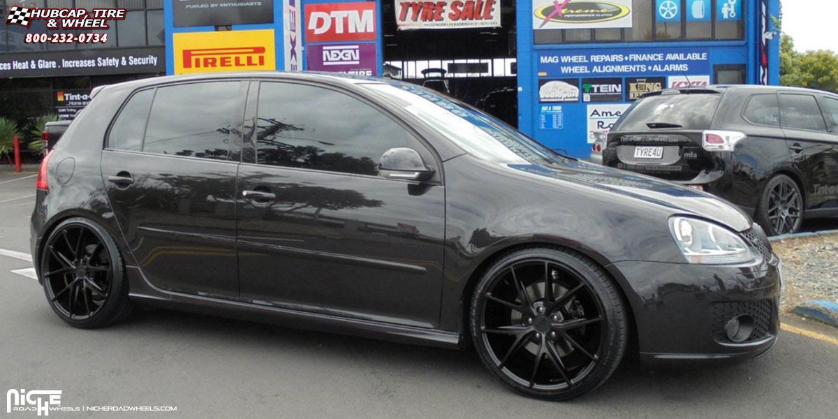 Volkswagen Gti Niche Misano M117 Wheels Satin Black