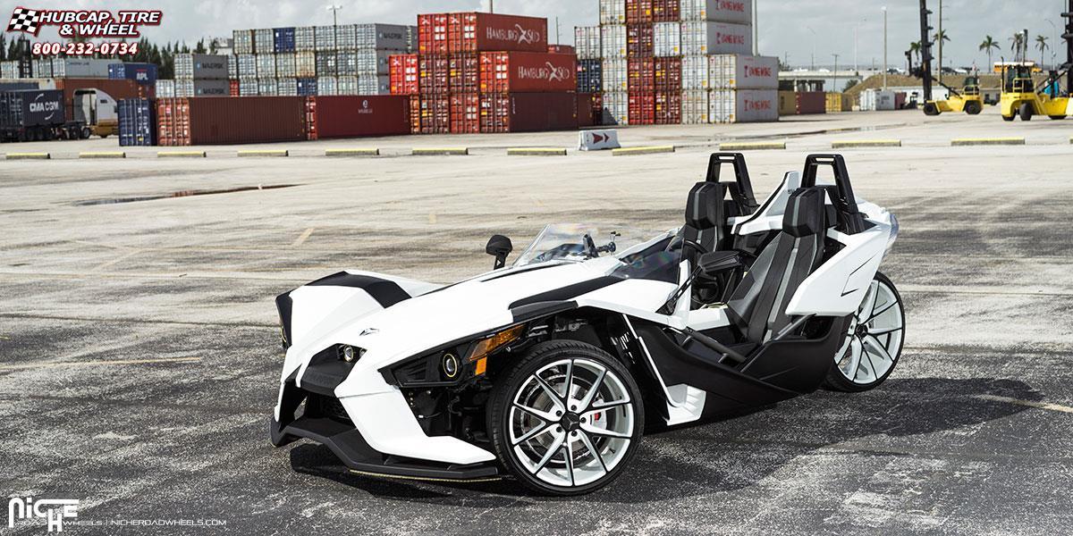 2018 Slingshot >> Polaris Slingshot Niche Misano - M117 Wheels Custom White | Black