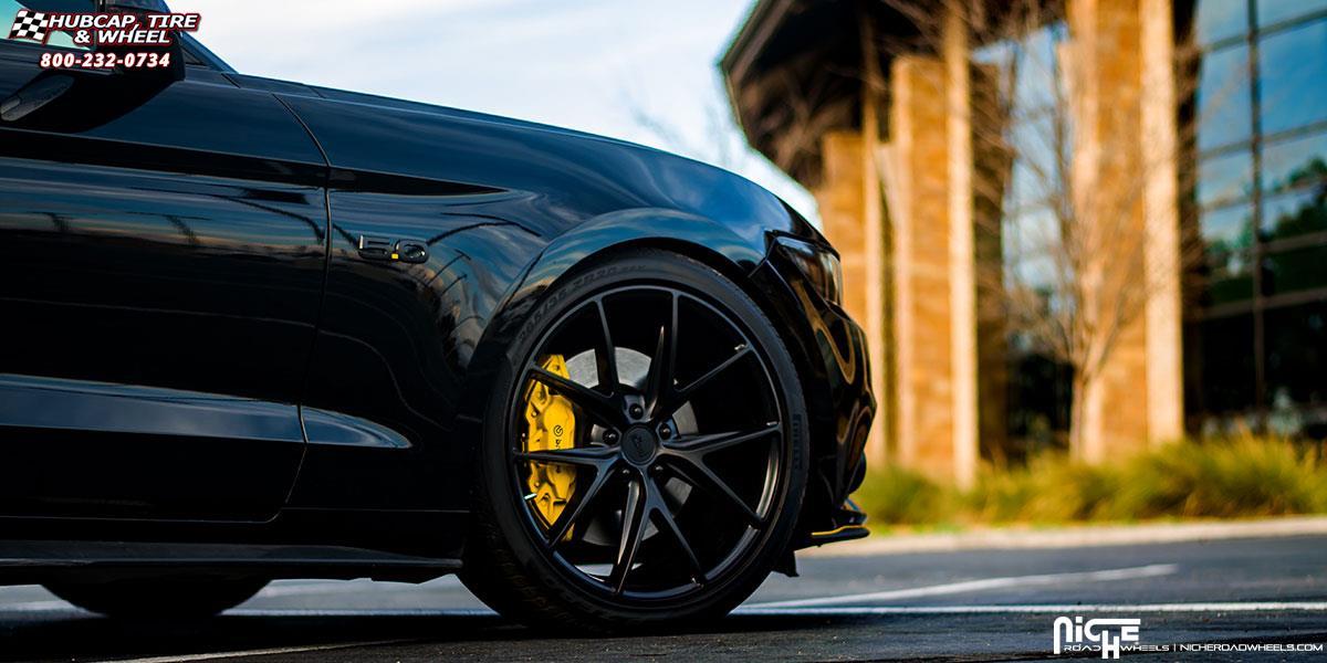 Ford Mustang Niche Misano M117 Wheels Satin Black