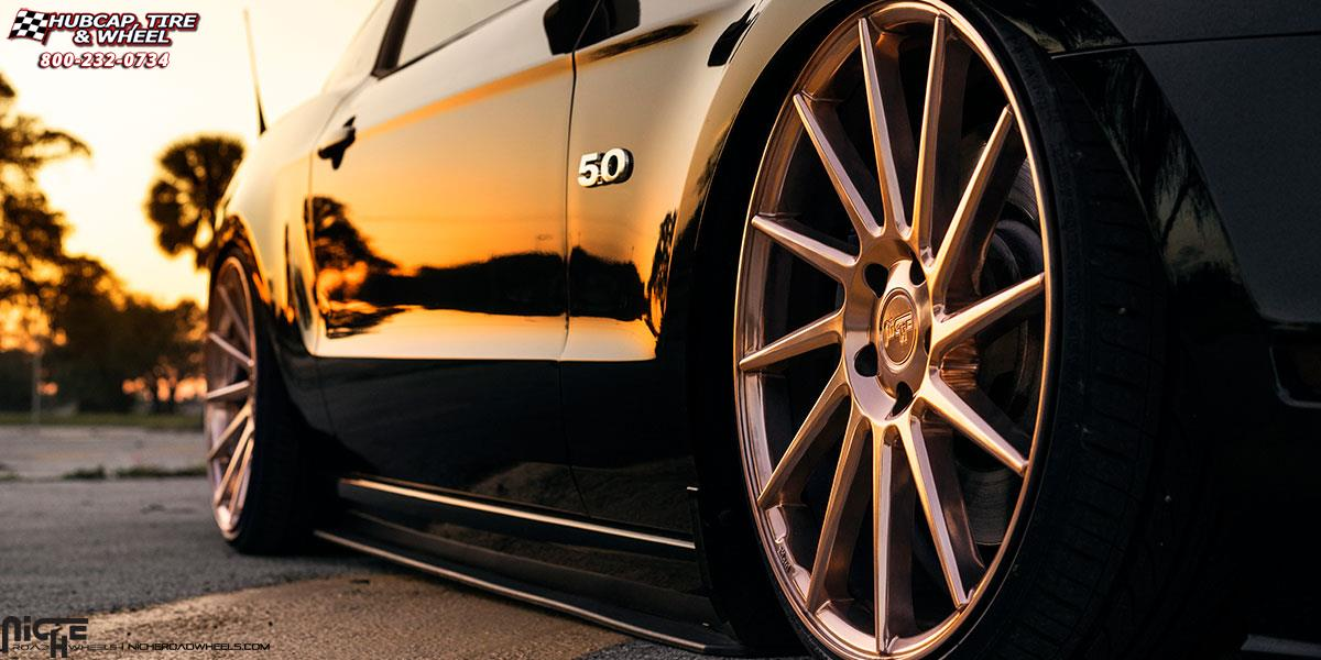 2015 Mustang Wheels >> Ford Mustang Niche Surge - M114 Wheels Polished Rose Gold