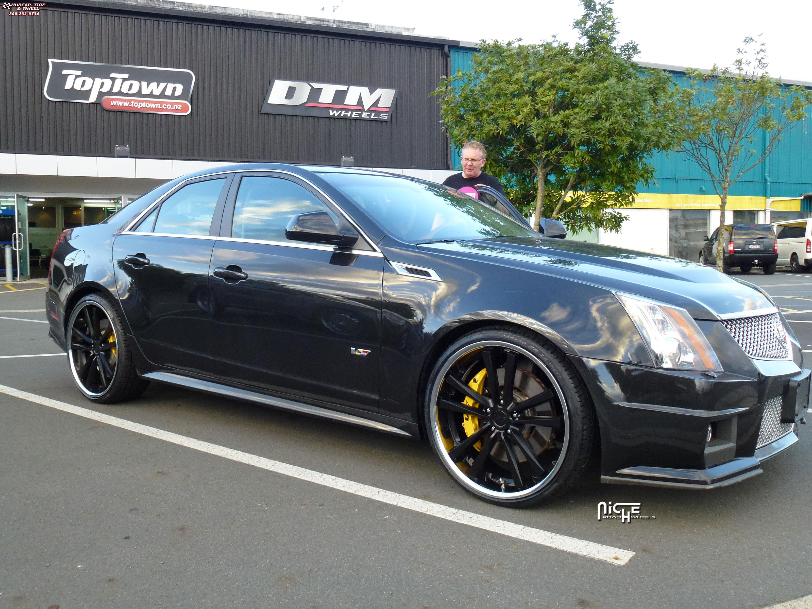 2014 Cadillac Cts Accessories >> Cadillac CTS Niche Concourse - M885 Wheels Matte Black/Chrome Stainless
