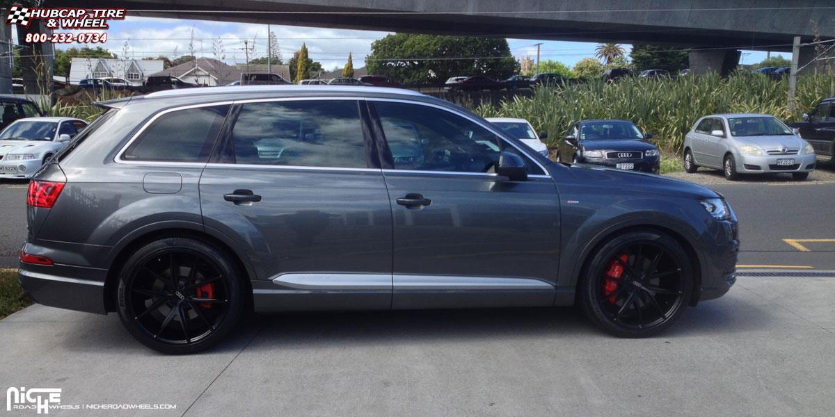 Audi Q7 Niche Misano M117 Wheels Satin Black