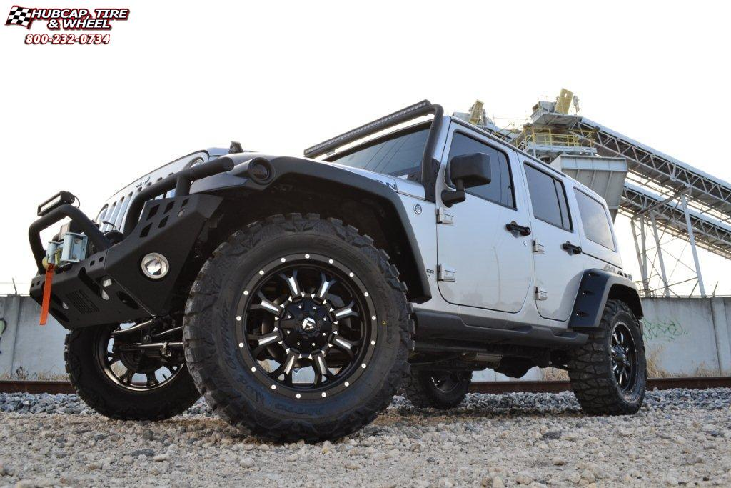 Jeep Wrangler Rims And Tire Packages >> Jeep Wrangler Fuel Krank D517 Wheels Matte Black & Milled