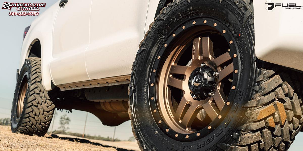 Toyota Tundra Fuel Anza D583 Wheels Matte Bronze w/ Black Ring