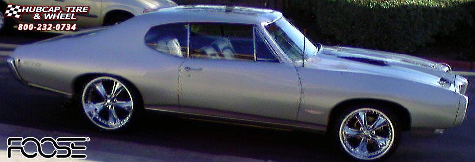 1968 Pontiac GTO Foose Nitrous F117 Wheels Chrome