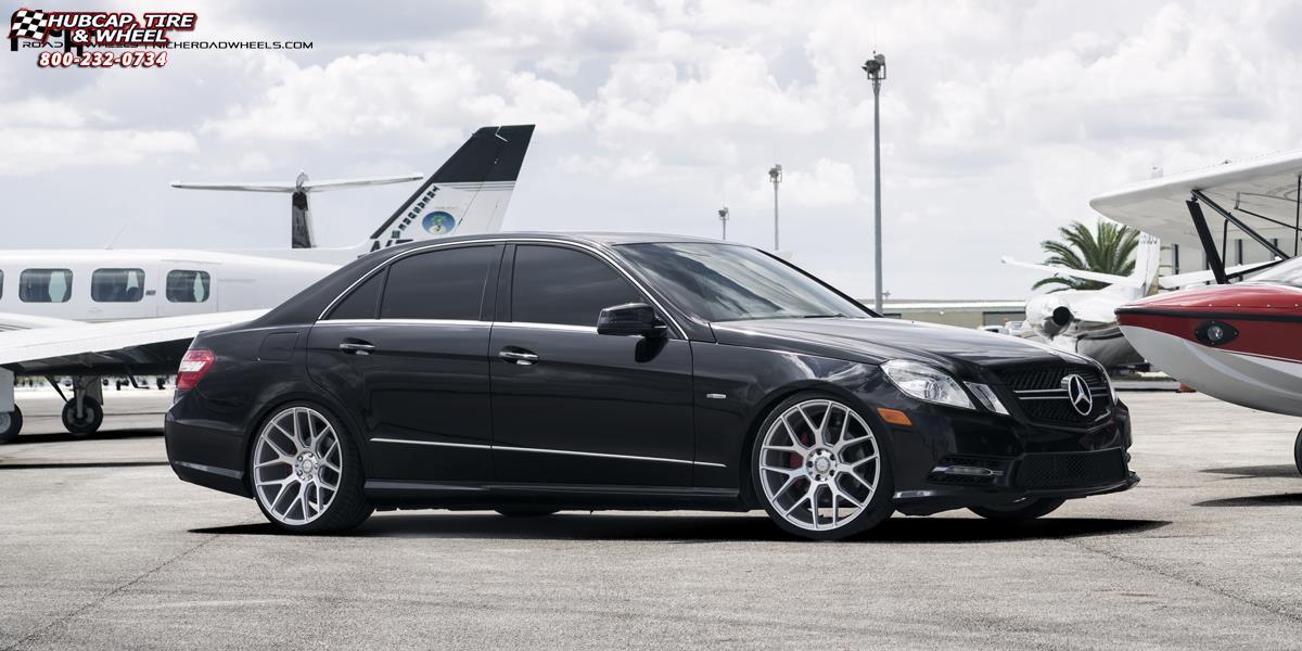 Mercedes Benz E350 Niche Intake M160 Wheels Silver