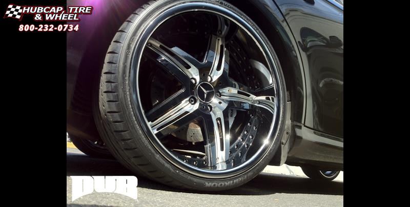 Mercedes benz cls63 dub x 55 wheels gloss black milled for Mercedes benz wheel and tire protection